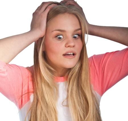 Scandinavian cute young girl portrait