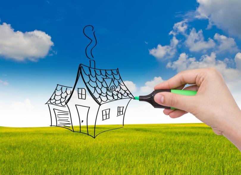 Många drömmer om att bygga på egen tomt.